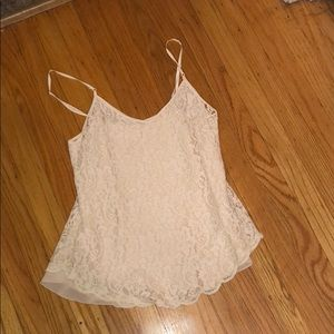 Tops - Wilfred silk lace Aritzia xs tip cream white top